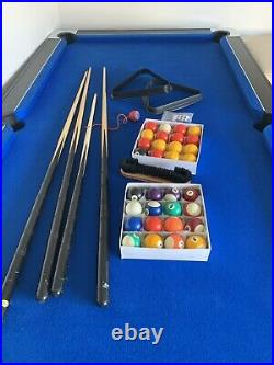 7 Foot Slimline Pool Table With Accessories