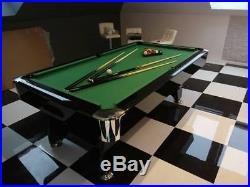 7FT Slate Bed Pool Table High Gloss Radley Diamond Multi Games Free Accessories