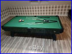 7FT Slate Bed Pool Table High Gloss Radley Vintage Multi Games Free Accessories
