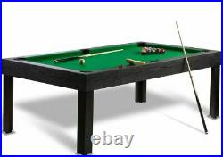 7ft Pool Table & Dining/Diner Heavy Table Top Cues & Full Accessory Set UK NEW