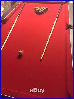 7ft Slate Bed Pool Table And Accessories
