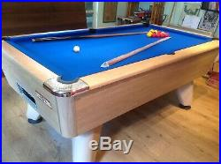 7ft Supreme Winner Slate Bed Pool Table in Oak with Table Top & Accessories