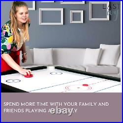 7ft Sure Shot 3-In-1 Multi Games Table Tennis Pool Air Hockey With Accessories