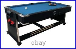 7ft Sure Shot 3-in-1 Pool, Air Hockey & Table Tennis Games Table & Accessories