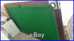 7ft X 4ft'Deluxe' Walnut & Green Pool Table + Accessories
