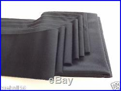7x4 BLACK High Quality Napped WOOL Bed & Cushions Set Cloth for UK Pool Tables
