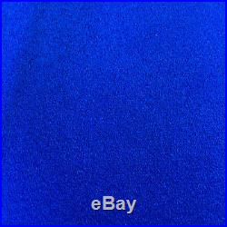 7x4 High Quality BLUE WOOL POOL TABLES CLOTH & Strips for 7ft UK Pool Tables