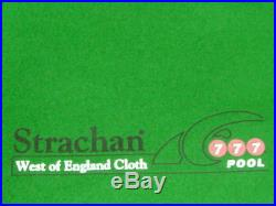 7x4 High Quality GREEN WOOL POOL TABLES CLOTH & Strips for 7ft UK Pool Tables