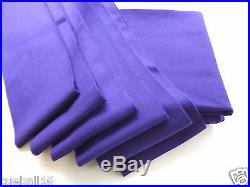 7x4 PURPLE High Quality Napped WOOL Bed & Cushions Set Cloth for UK Pool Tables