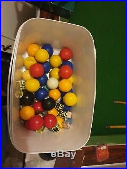 7x4 Slate Bed Pool Table Plus Accessories