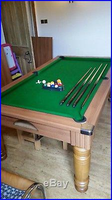 7x4ft slate bed pool dining table with accessories excellent condition