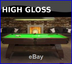 8FT Slate Bed Pool Table High Gloss Radley Vintage Multi Games Free Accessories