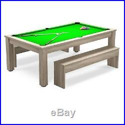 9FT Pool Dining Table & Benches Billiard Table Free Accessories RADLEY VERSO