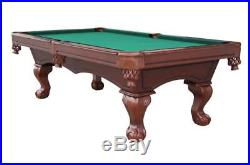 9FT Savanah Classic American Pool Table Slate Bed Solid Wood Free Accessories