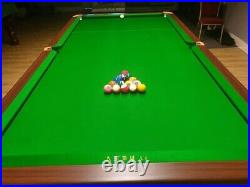 9ft Chinese 8 Ball Pool Table Traditional Gold + Andy Cloth & Cyclop TV Balls