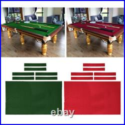 9ft Pool Table Cloth Felt Snooker Billiard Table Cover Accessories Red Green