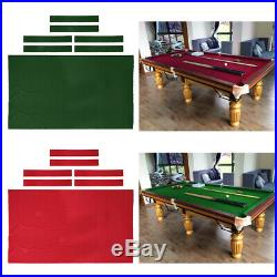 9ft Pool Table Cloth Snooker Billiard Table Felt with Rail Strips Custom Fit