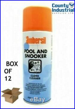 Ambersil Pool And Snooker Table Cloth Cleaner Box Of 12