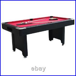 American 6ft Pool Table With Accessories Red