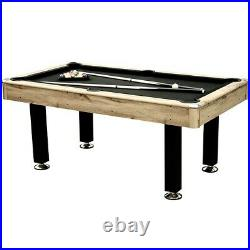 American Pool Table 6ft With Accessories Retro Black Cloth