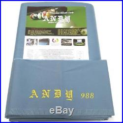 Andy 988 American Pool Table Cloth Powder Blue 9ft Bed and Cushion Pack