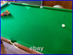 Antique pool stroke snooker table with accessories