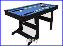 BCE 5ft Sturdy Folding Pool Billiard Games Table with Accessories