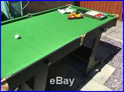 BCE 6 foot folding Snooker / Pool table and accessories