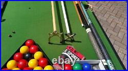 BCE Black 6' Snooker and Pool Table plus Accessories