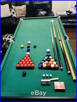 BCE Foldable Pool & Snooker Table 6ft X 3ft. All Accessories Included