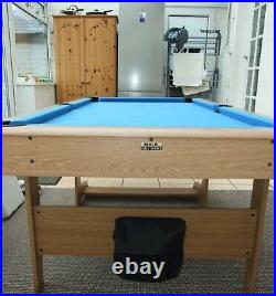 BCE Folding 3 in 1 Pool Table 6' x 3' 4 + Various Cues & Accessories Used
