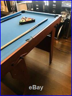 BCE Folding Pool Table 4.5ft x 2.5ft. Free Delivery. All Accessories Included