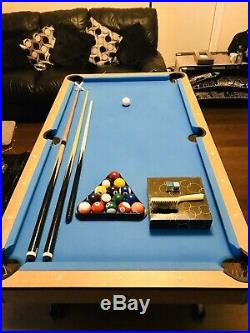 BCE Folding Pool Table 6ft x 3ft. All Accessories Included. Excellent Condition