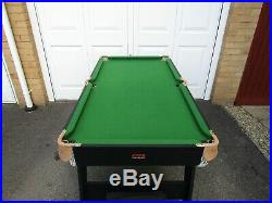 BCE Folding Snooker / Pool Table 6x3ft. Good Condition Pool Accessories
