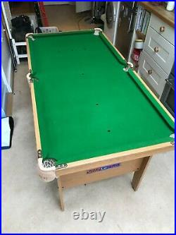 BCE Le Club 5 Foot Snooker/Pool Table and Accessories Kids/ Junior/ Youth/