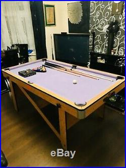 BCE Mauve Foldable 6ft x 3ft Pool Table. All Accessories Included. Unique Spec
