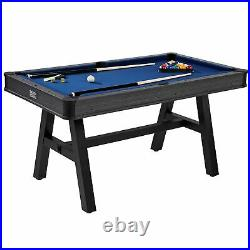 Barrington 60 Harrison Collection Pool Table with Cue Set and Accessory Kit, Bl
