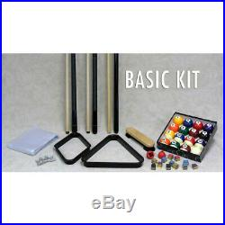 Basic Economy Billiard Pool Table Accessory Kit Pool Cues, Billiard Balls
