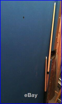 Bce 6 X 3 Ft Blue Cloth Pool Table Chunky Fixed Legs With Accessories