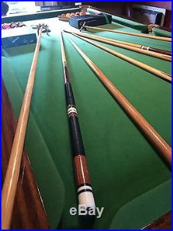 Beautiful Walnut Pool table with slate slab and accessories traditional style