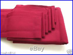 Bed and Cushions Strips for 7ft UK Tables 7x4 BURGUNDY Quality WOOL POOL CLOTH