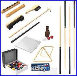 Billiard Pool Table Accessories Set Snooker Kit 32 Piece Cue Ball Indoor Game
