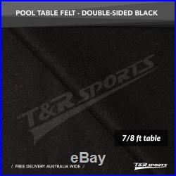 Black Double-sided Wool Pool Snooker Table Cloth/Felt for 7/8FT UK