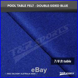 Blue Double-sided Wool Pool Snooker Table Top Cloth Felt for 7''/8'' UK