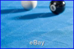 Blue Single-sided Pool Snooker Billiards Table Cloth Felt for 7FT 8FT UK