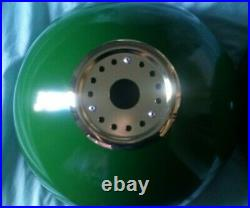 Brand New 3 Green Shades Brass Fitting Pool Snooker Table Lighting & Pool Cue