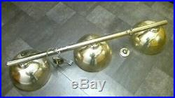 Brass Pool Snooker Table Rail Light 3 Dome Pub Home Man Cave