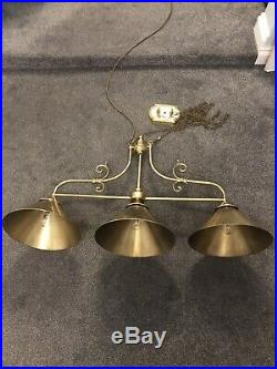 Brass pool snooker table light working