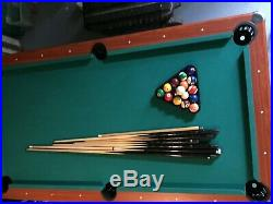 Callisto 7ft Pool Table and Accessories used