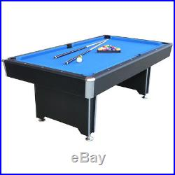 Callisto 7ft Pool Table with Blue Cloth and Accessories